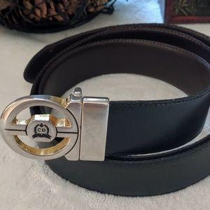 Vintage Christian Dior Reversible Leather Belt 36